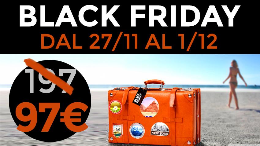 Corso Web Marketing Turistico per Hotel e strutture ricettive Offerta Black Friday